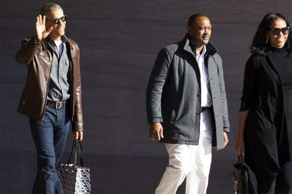 L'ancien président américain Barack Obama et sa femme, Michelle Obama, à Washington, le 5 mars 2017