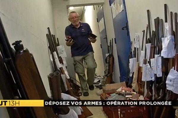 Armes à feu déposées