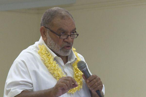 Louis Kotra Uregei en ouverture du dixième congrès du PT, parti travailliste, 30 novembre 2019