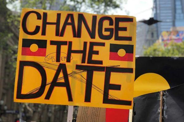 Australia Day: pancarte à Melbourne, 26 janvier 2018.