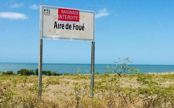 Interdiction de baignade à Foué, requins, janvier 2019