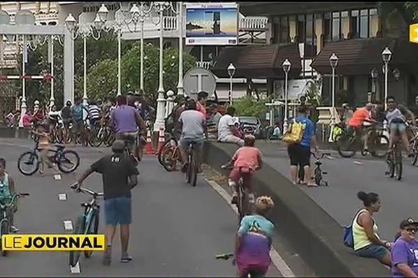 L'opération « Dimanche sans voiture à Papeete »