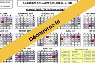 Découvrez le calendrier scolaire 2019 / 2020
