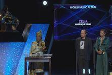 L'artiste martiniquais David Donatien lors de la remise du prestigieux Grammy Award en 2020.