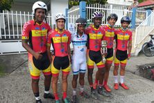La Team Gedimat Martinique remporte le contre-la-montre par équipes