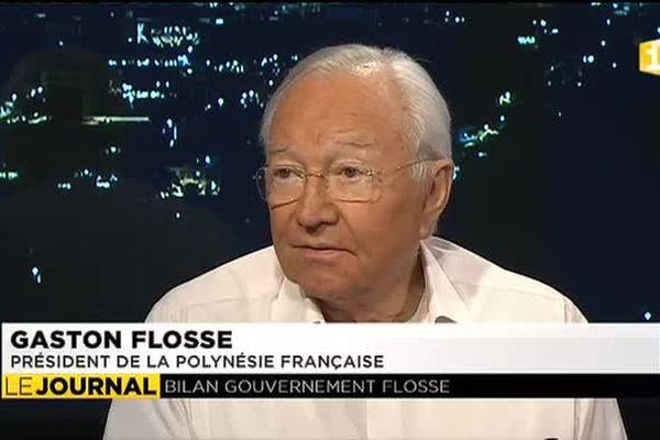 Élu voilà un an, Gaston Flosse dresse le bilan de sa mandature