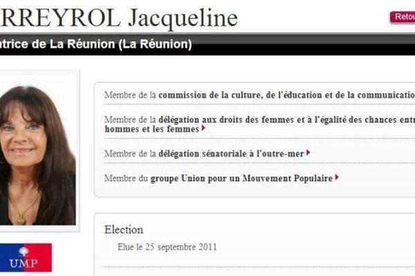 Jacqueline Farreyrol sénat