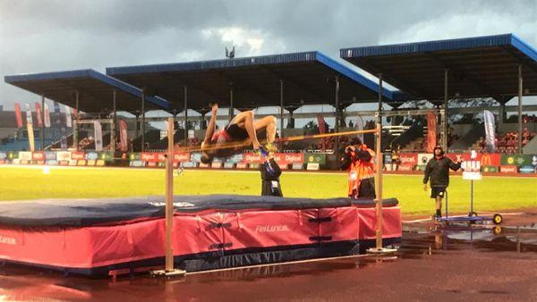 Samoa 2019, Florian Geffrouais au décathlon, saut en hauteur