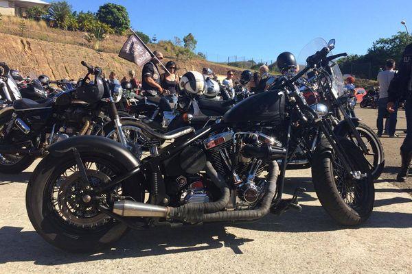 Plus d'une centaine de motards présents