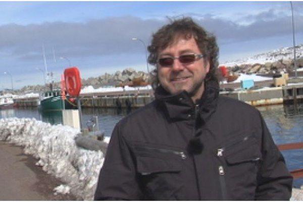 Felix Leblanc sur le port de Miquelon