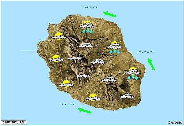Carte météo 21 février 2020