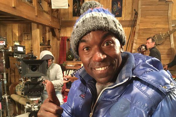 Lucien Jean-Baptiste sur le tournage de La Deuxième étoile