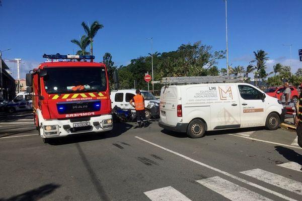 Un accident de la route au centre-ville de Nouméa