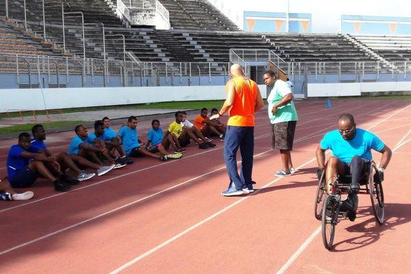 Entraînement Handi'Athlétisme au Stade Aliker de Fort-de-France