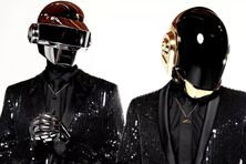 Thomas Bangalter et Guy Manuel de Homem Christo, alias Daft Punk, à Los Angeles le 17 avril 2013.