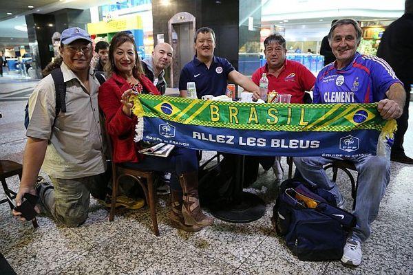 Supporters bloqués aéroport Brésil