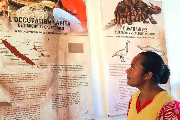 Exposition lapita à Koné, centre Pomémie, Pélagie Nerhon