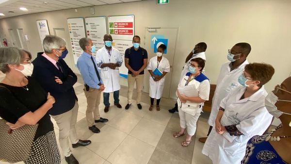 Les soignants du CHOG rencontrent la cellule de crise