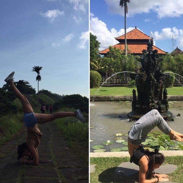 La Calédonienne a étudié pour devenir professeure de yoga à Bali