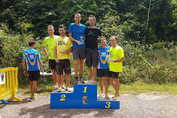 Le podium de la compétition Run & Bike