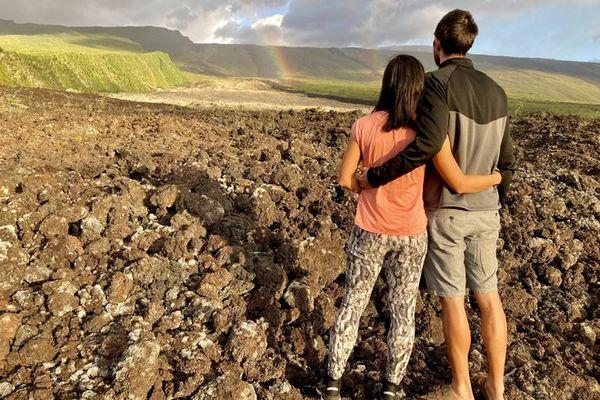 volcan piton de la fournaise éruption coulée lave grandes pentes tremblet saint-philippe 080521