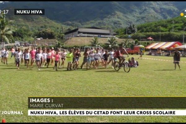 Le cross scolaire de Nuku Hiva rassemble 450 jeunes