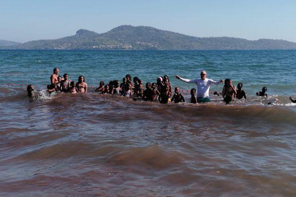 Cours de natation Tahiti plage Sada