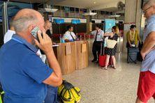 Enregistrement du premier vol de continuité territoriale depuis la fermeture de l'aéroport aux vols commerciaux.