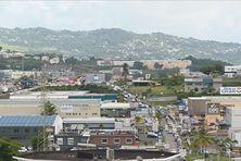 Quelques entreprises de la zone d'activités de La Jambette (entre Fort-de-France et Lamentin).