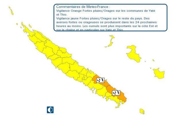 Vigilance orange pluies du 29 février