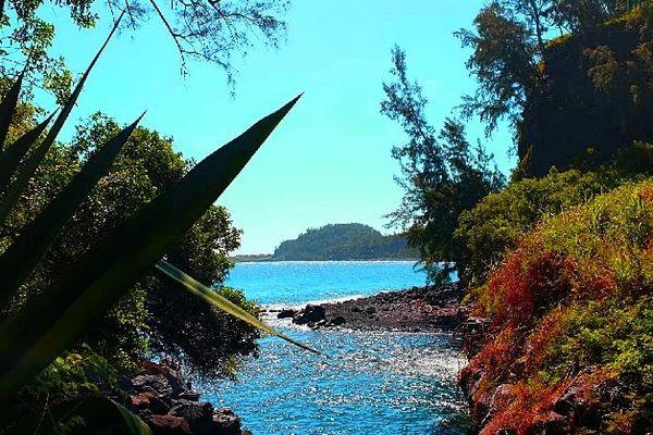 Ciel bleu sur La Réunion février 2020