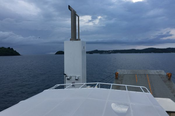 Cheminé barge