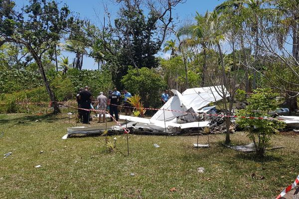 Lifou : site du crash du monomoteur