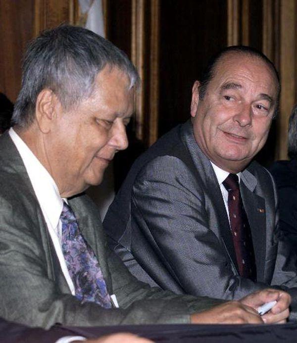 1999 Paul Vergès et Jacques chirac