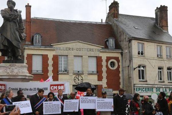 Cérémonie en mémoire de l'abolition de l'esclavage à Villers-Cotterêts le 10 mai 2014