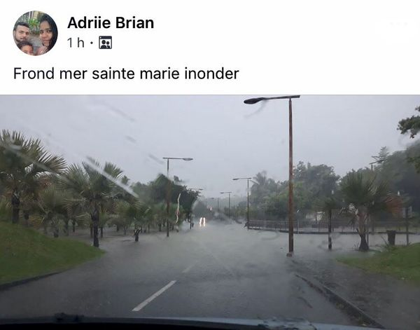 Inondation front de mer Ste-Marie post FB