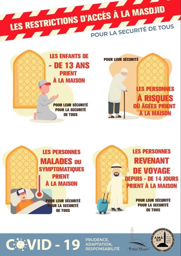 Affiche mosquée - Covid-19