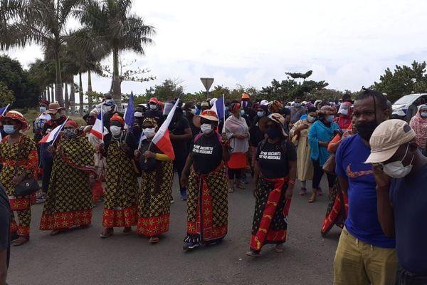 Marche blanche contre la violence Tsoundzou 15 août 2020