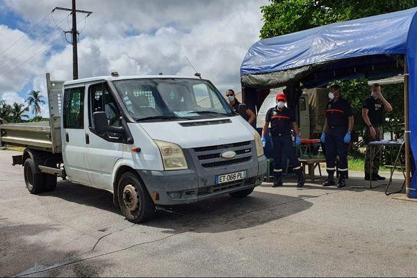 Le point de contrôle d'Iracoubo