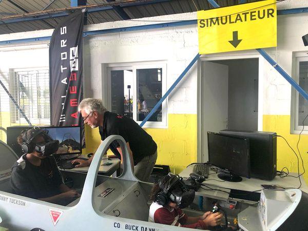Portes ouvertes 2019 à l'aéroclub Henri-Martinet, 1er septembre, simulateur de vol