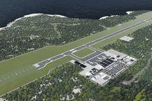Image de synthèse du futur aéroport international de la Domique