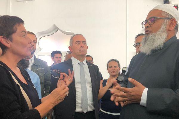 visite de la ministre des outre mer : annick girardin dans le centre ville de saint-denis