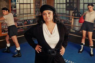12 MARLENE CUMMINS at Mundine's Gym in Redfern, Sydney. BLACK PANTHER WOMAN