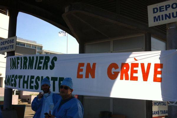 infirmiers anesthésistes en grève