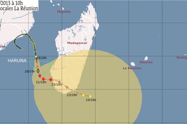 trajectoire dépression canal du Mozambique