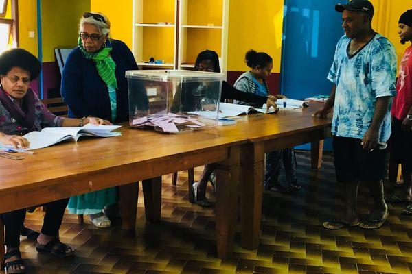 Elections partielles à Bourail, premier tour, 3 juin 2018, bureau de vote de Pothé