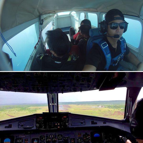 Pilote pendant plus de 7 ans en Nouvelle-Calédonie, Mathieu a travaillé pour Nouméa Sky Dive puis Aircal