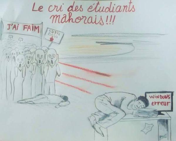 caricature étudiants
