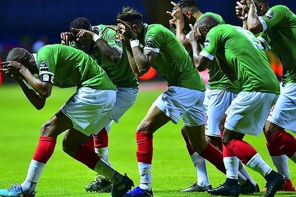 Les Barea célèrent leurs buts CAN 2019