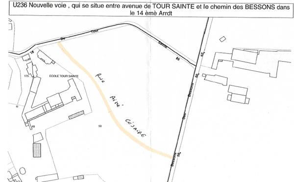 Plan de Rue Aimé Césaire à Marseille